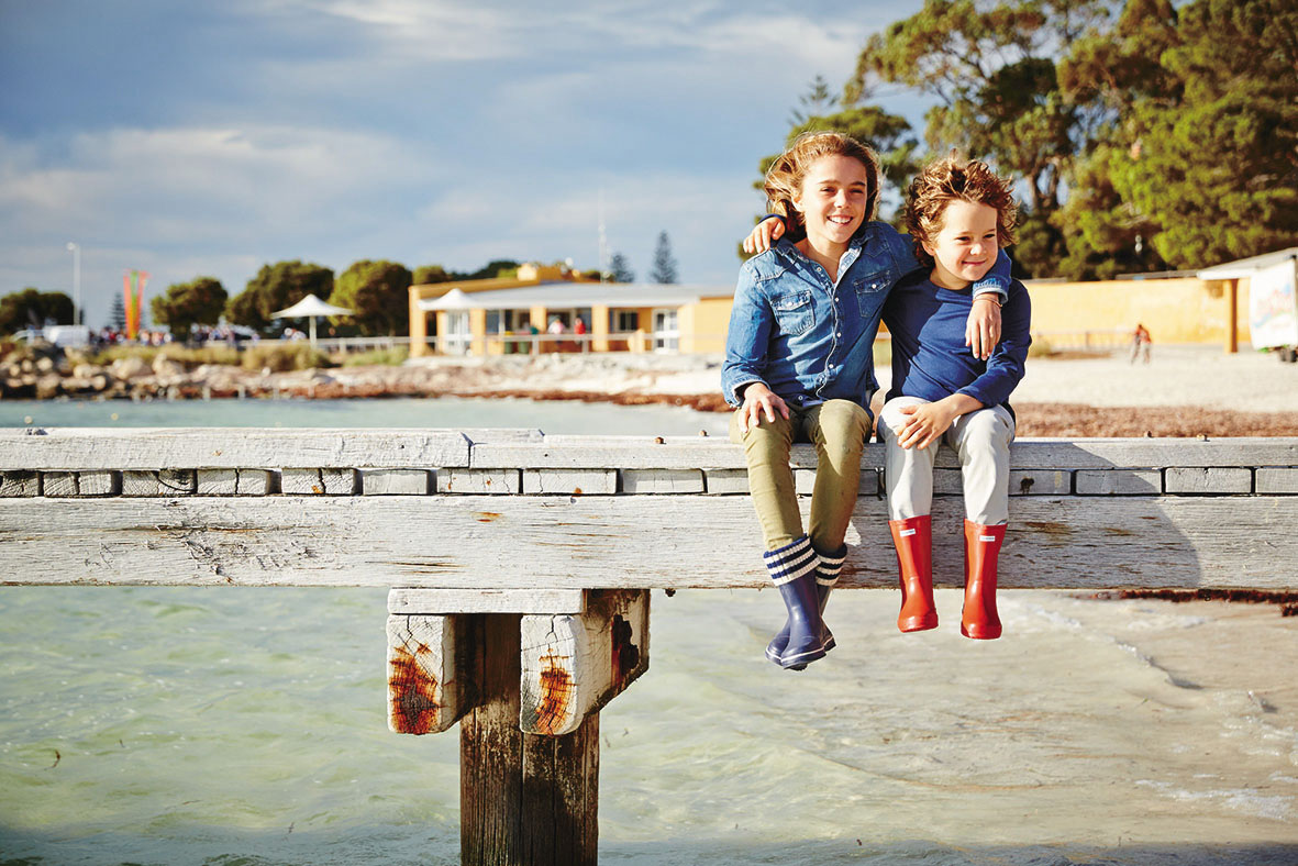 Our kids on our first Rottnest family holiday.
