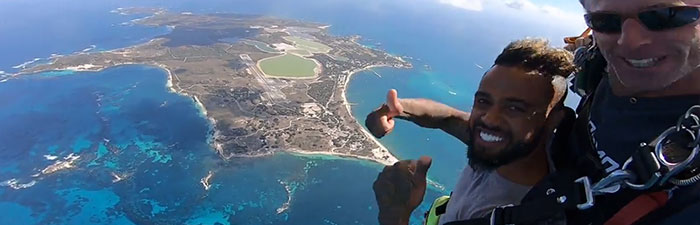 View from the Sky on a Rottnest Skydive