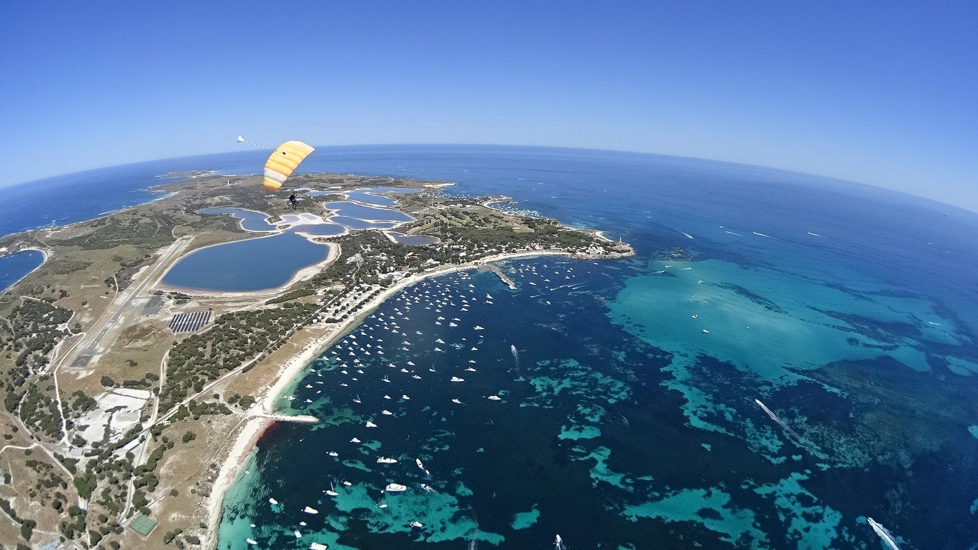 Parachuting Rottnest