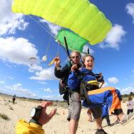 School holiday beach skydiving