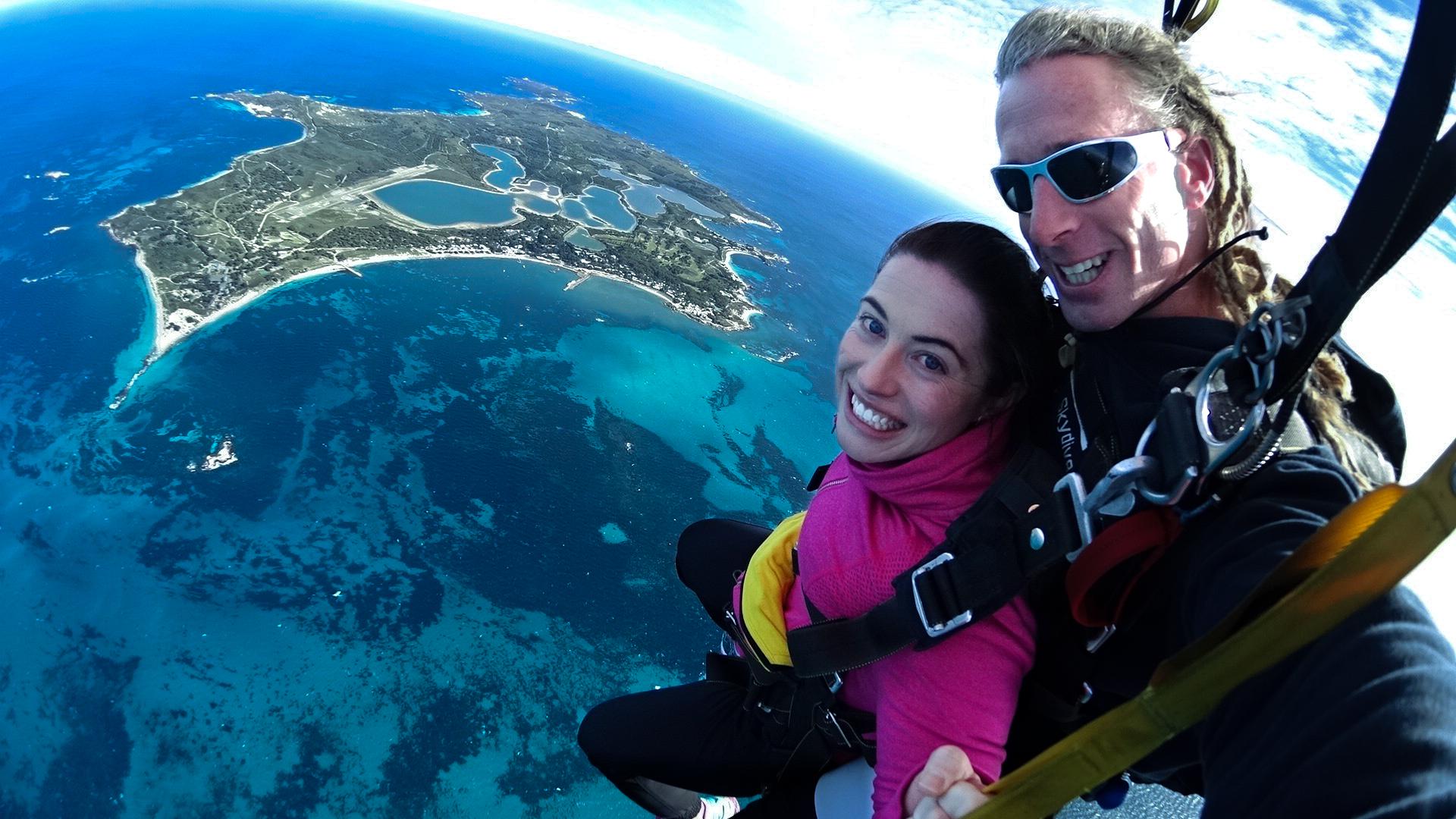 Rottnest Island Skydive in winter