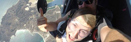 Skydiving Over Rottnest