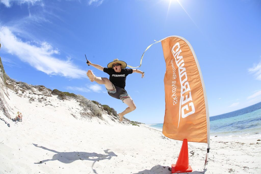 Excited to have landed a parachute at Rottnest Island